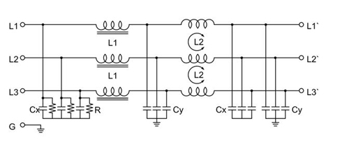 100A 3-phase Power Line Filter For EMI Shielding