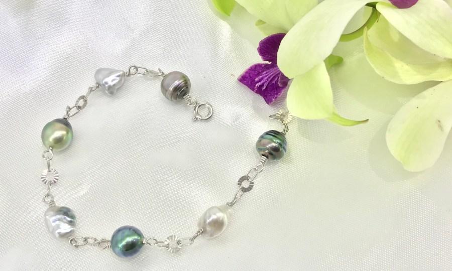 Bracelet perles et keishis