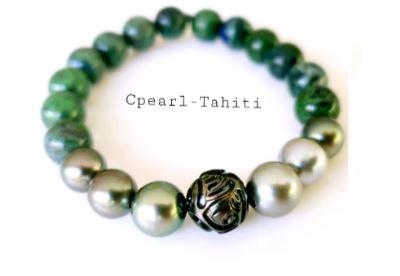 Perles 10-12mm bracelet extensible – Une perle gravée