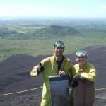 Volcano board en León, la de Nicaragua