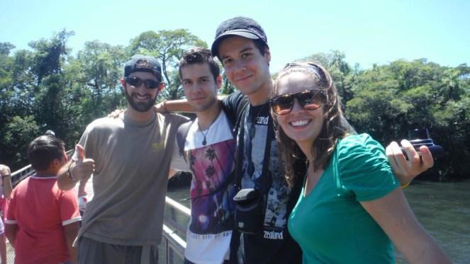 Con amigos en Cataratas de Iguazú