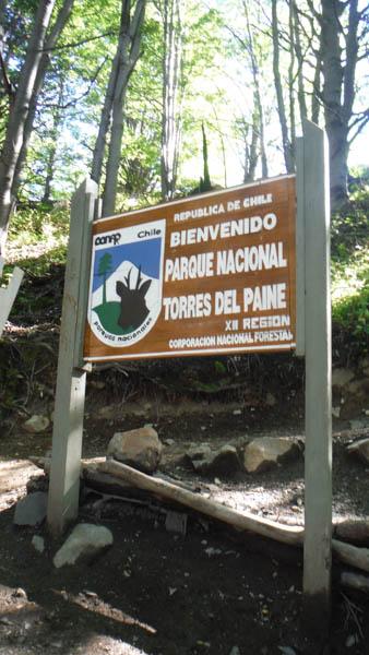 Señal del Parque Torres del Paine