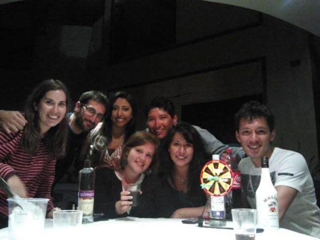 con amigos en perú