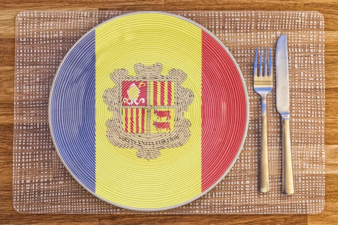 Dinner plate for Andorra
