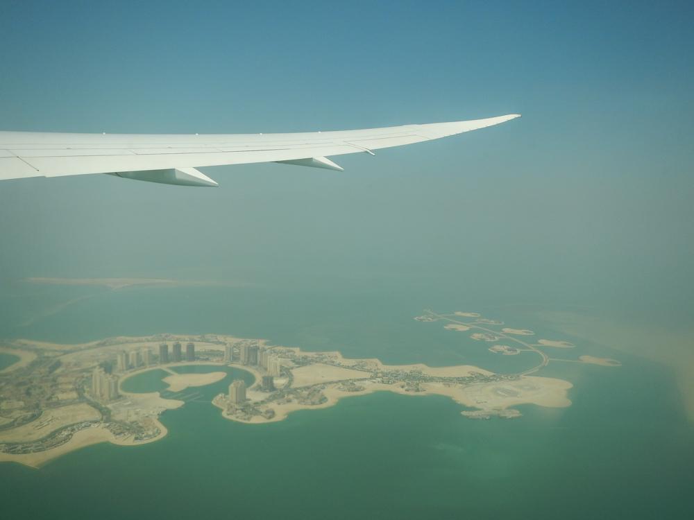 Qatar desde el avión