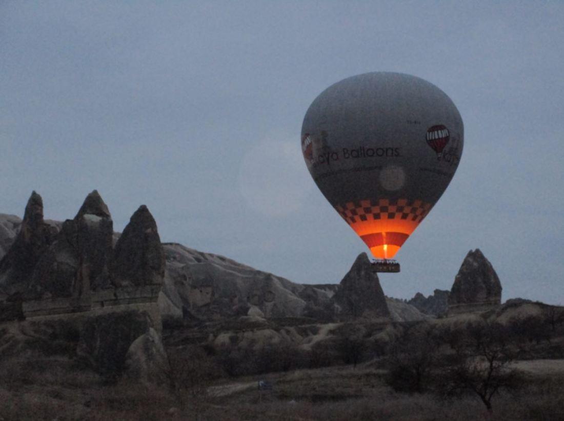 viaje en globo en la Capadocia