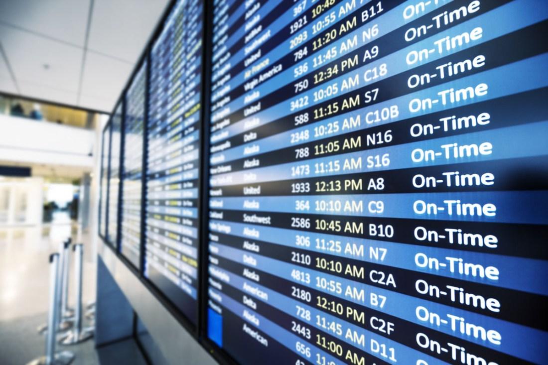 Pantallas de informacion de los vuelos
