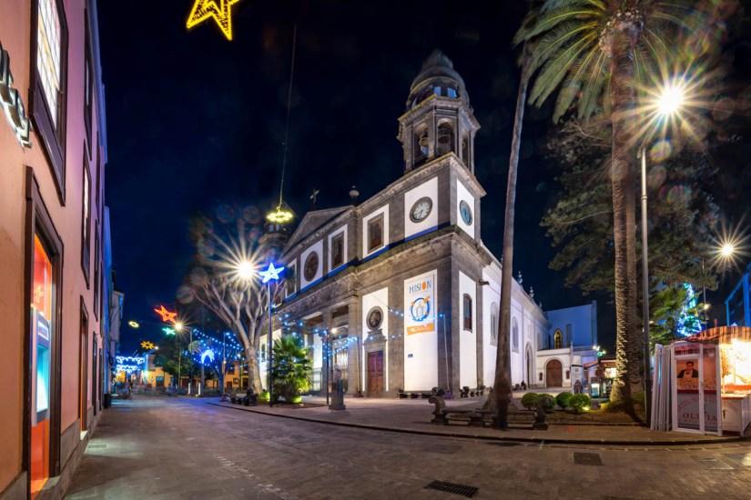 San Cristobal de La Laguna de noche