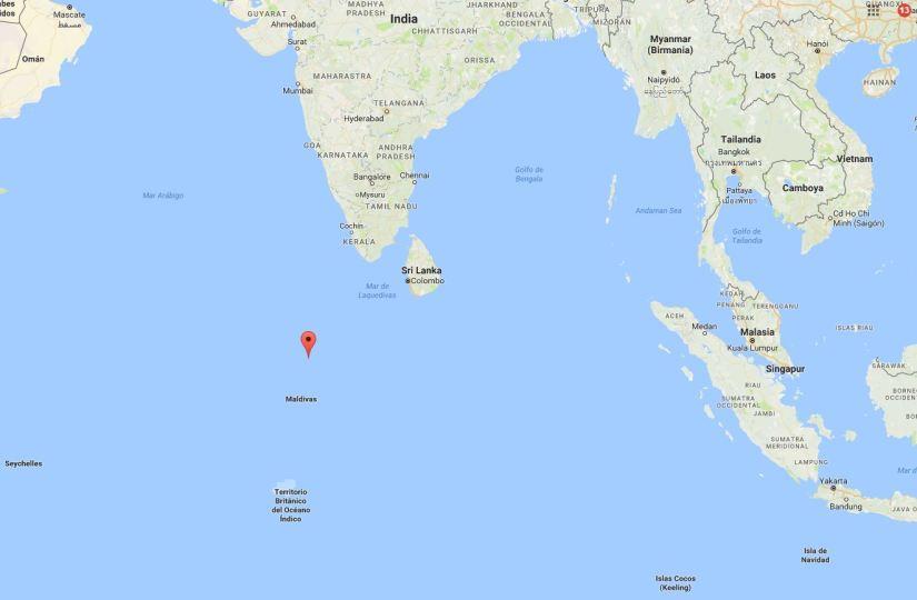 Mapa Maldivas
