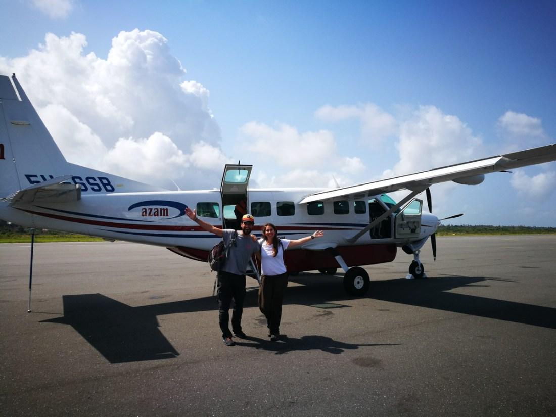 Nuestra avioneta de Zanzibar