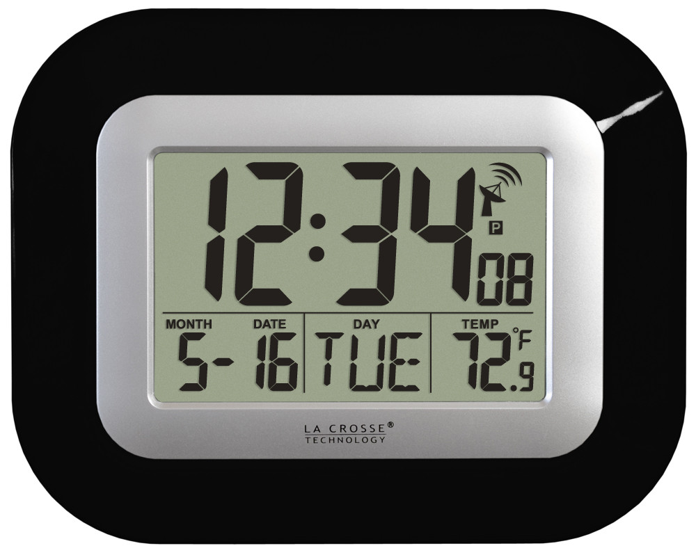 La Crosse Technology Atomic Wall Clock With Indoor