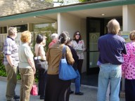 "Leading tours on Wilshire Blvd at the ""Built by Welton Beckett"" day"