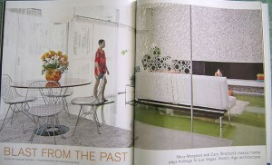 Feature spread in Las Vegas Home and Design magazine