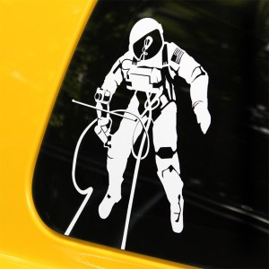 vinyl decal commemorating Ed White's historic space walk