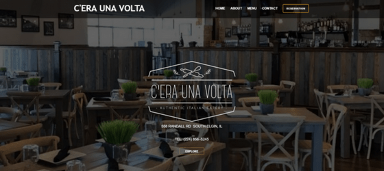 Screenshot of the C'era Una Volta homepage