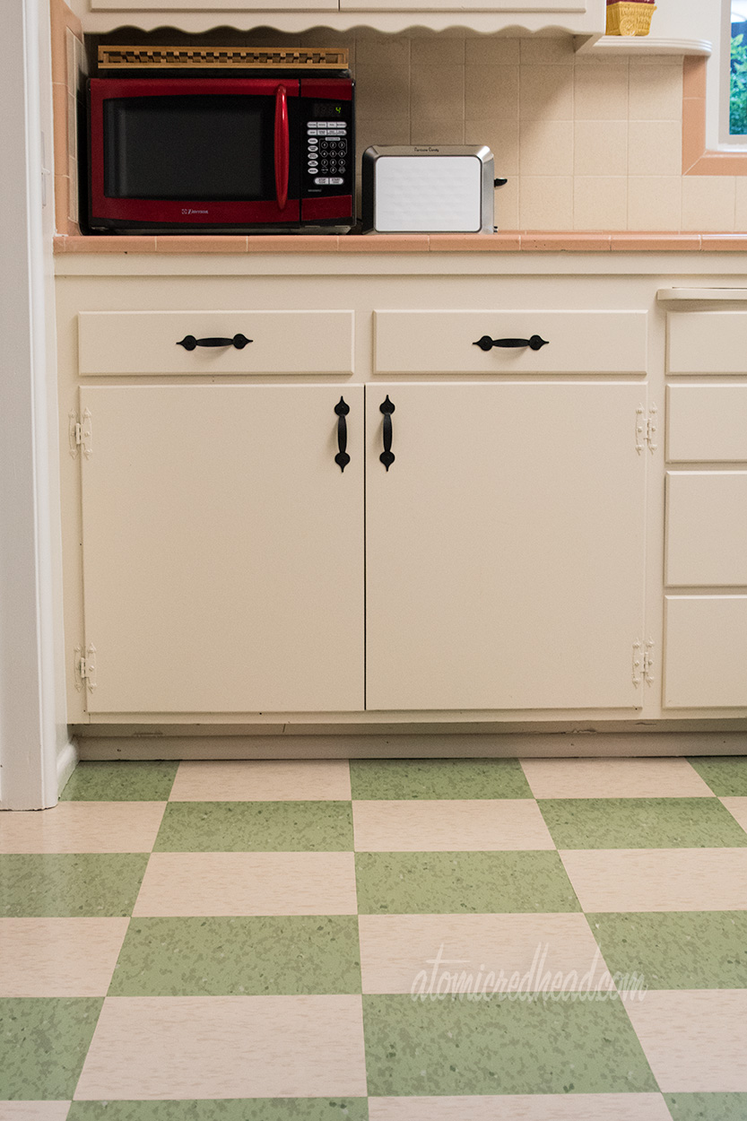 Our 1954 Home: Floors   Atomic Redhead