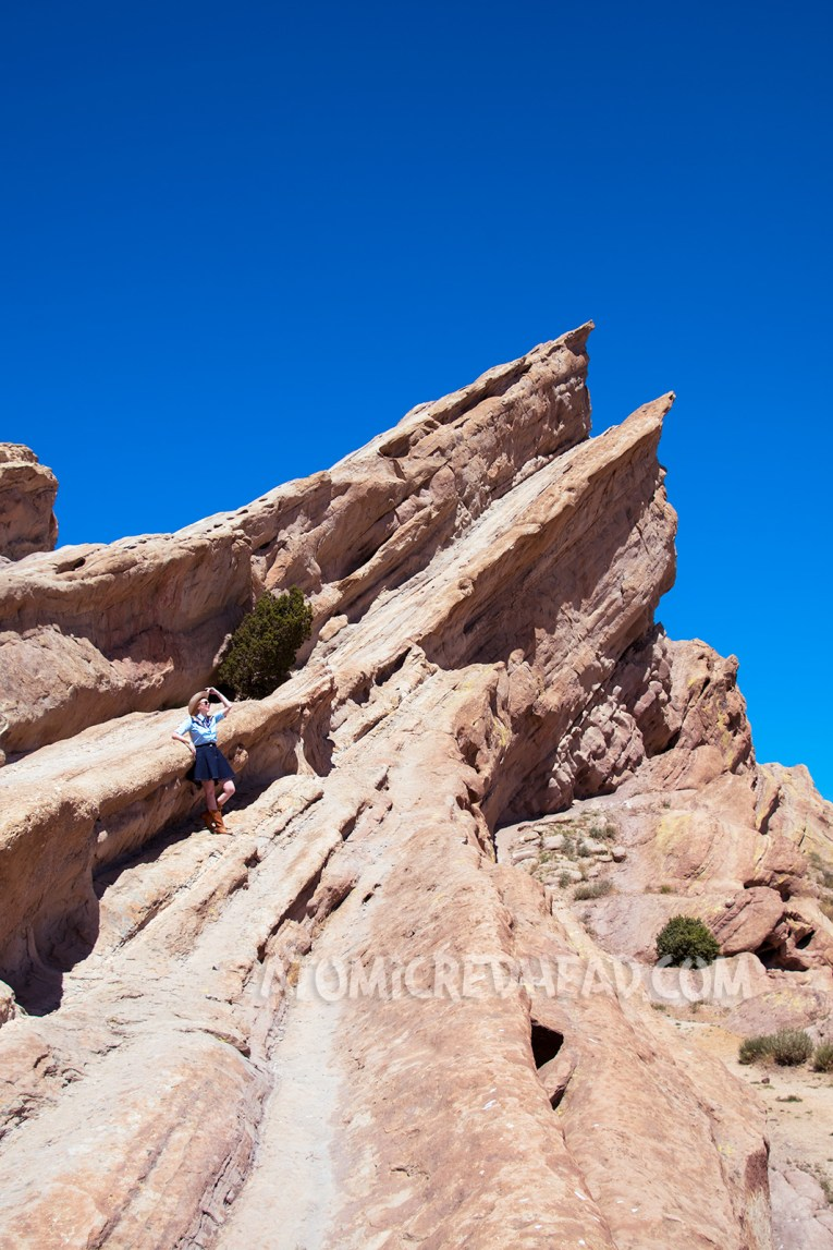 Within the crevasses of Vasquez Rocks