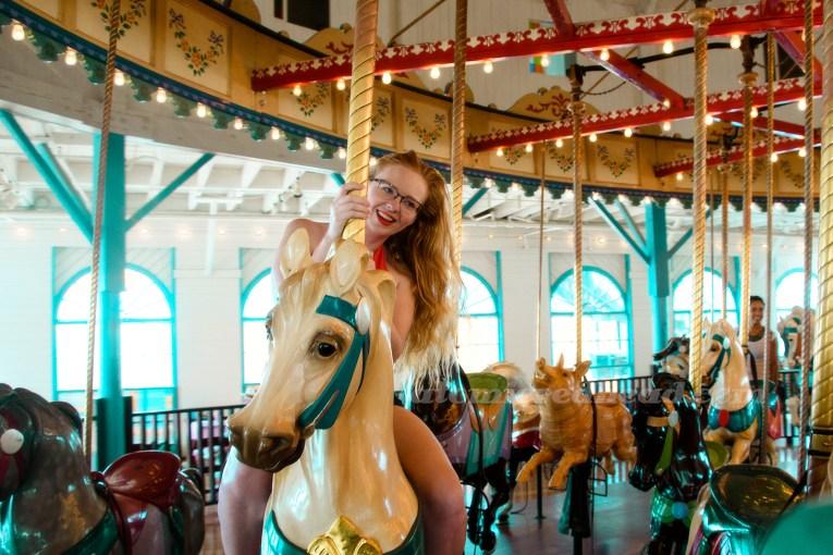 Me riding the carousel.