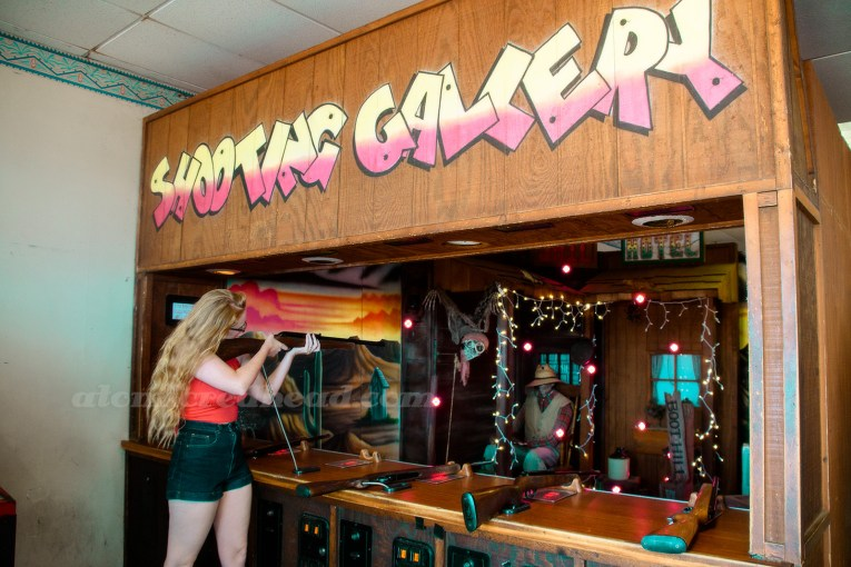 Me at a western themed shooting gallery inside Playland.