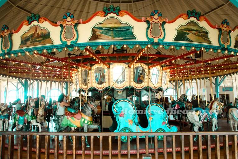 The carousel inside.
