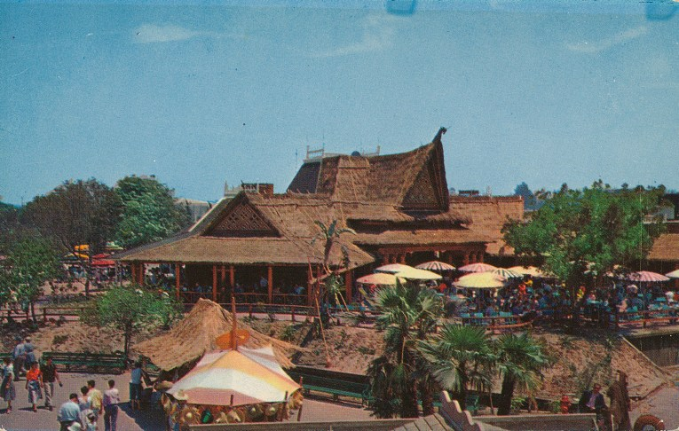 The building for the Tahitian Terrace, a Polynesian themed restaurant.
