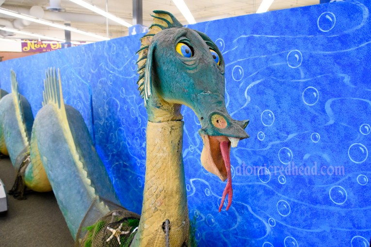 The goofy sea serpent from the Submarine Voyage,
