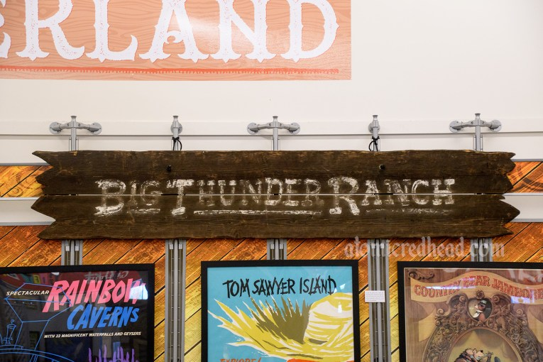 Wood sign for Big Thunder Ranch