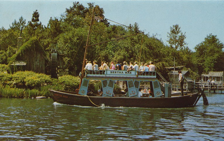 The Bertha Mae sails along the Rivers of America.