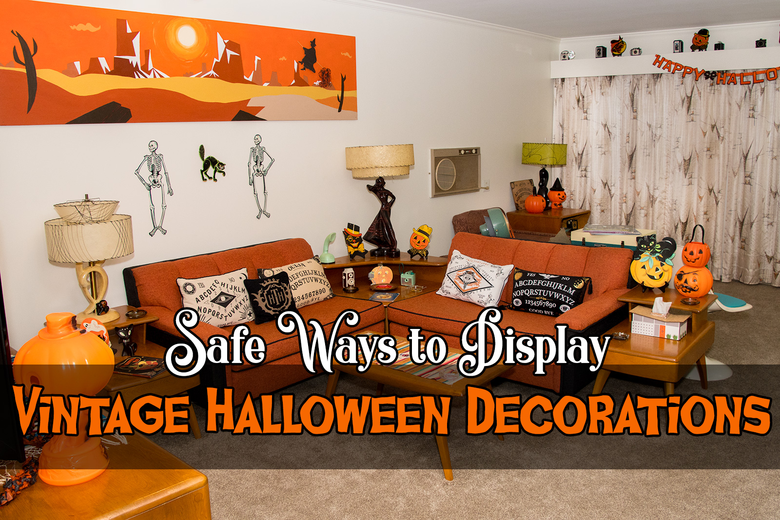safe ways to display vintage halloween decorations | atomic redhead