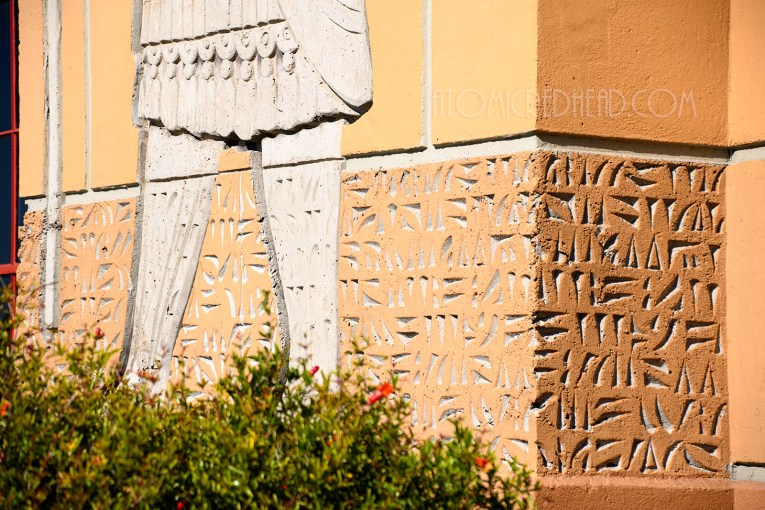 Carvings of cuneiform, the language of the Assyrians.
