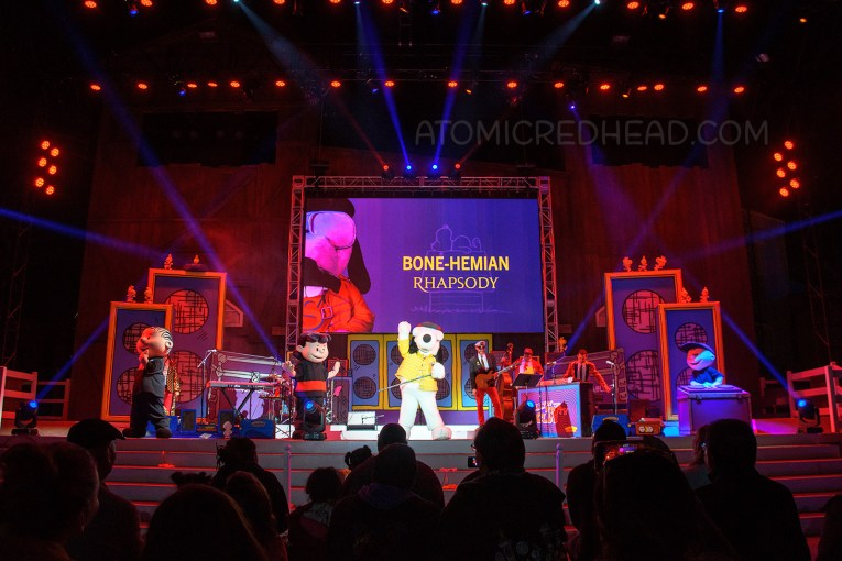 """Snoopy appears on stage as """" Fido Mercury"""""""