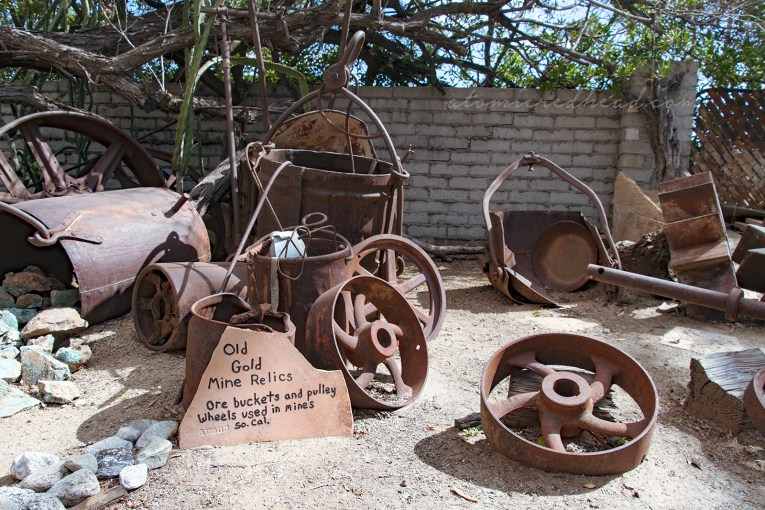 Various bits of old mining equipment.
