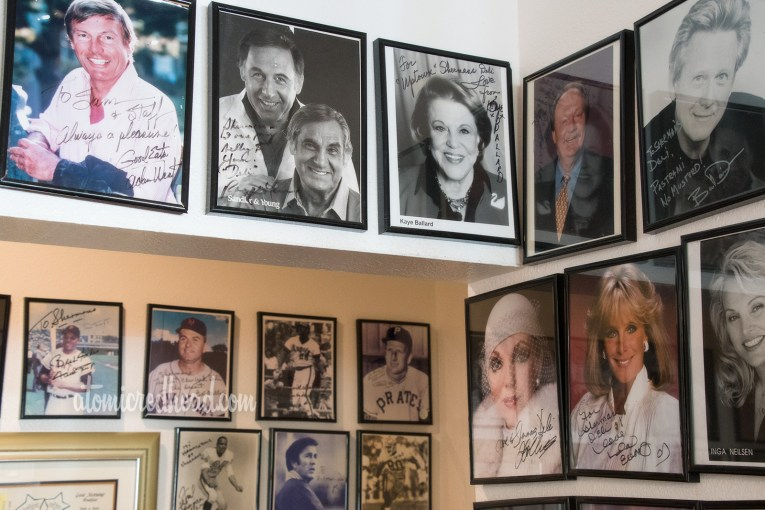 The walls of Sherman's featuring autographed photos of celebrities who have dined there.