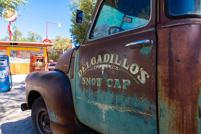 "The faded trick for the ""Sno Cap Drive In"""