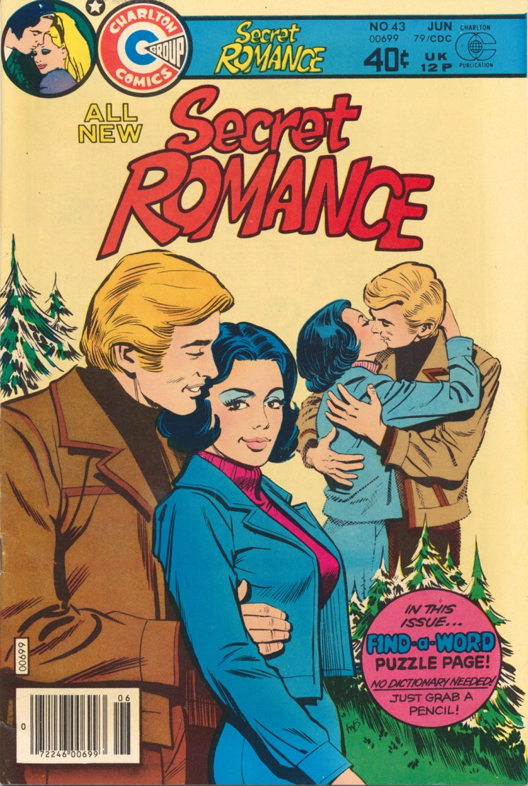 Secret Romance. A couple holds each other. Copyright June 1979