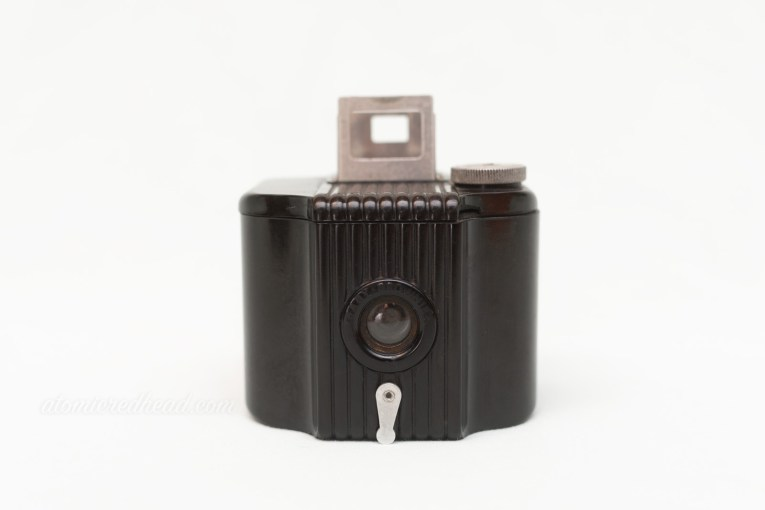 Kodak Baby Brownie. A small square camera with rib detailing on the front.