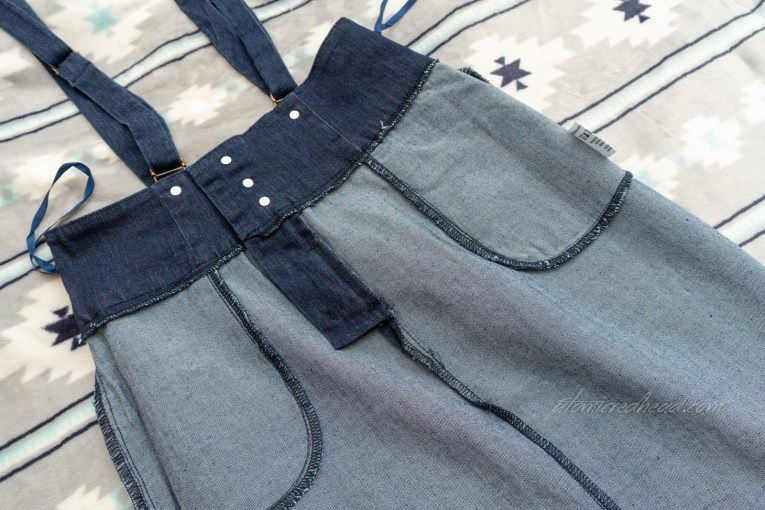 Skirt inside out to show construction detail.