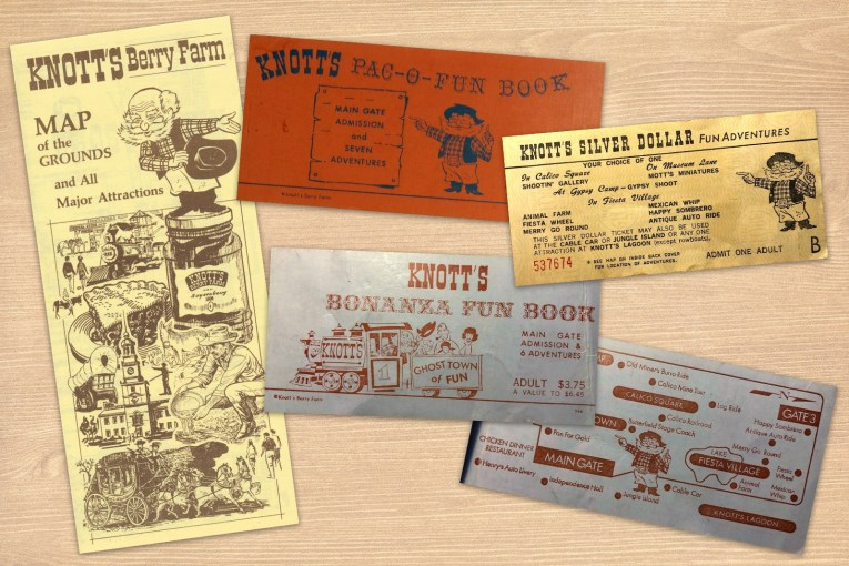 "A collage featuring a map and various ticket books with the ""Old Timer"" on them."