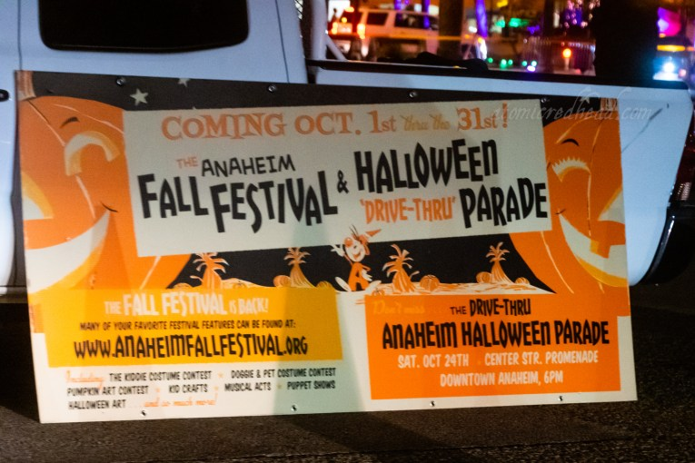 Banner for the Anaheim Halloween Parade.
