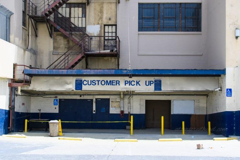 Customer Pick-Up docking bay.
