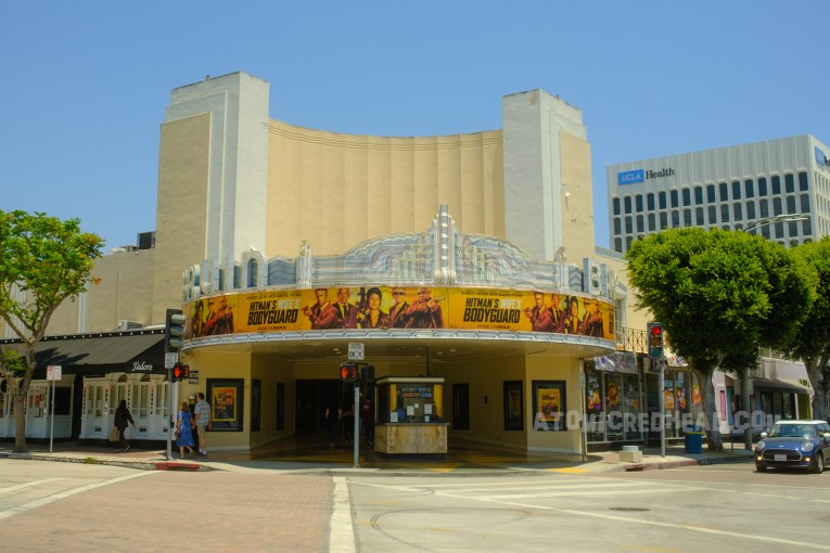 The Bruin today, which also features a banner style marquee displaying The Hitman's Wife's Bodyguard.