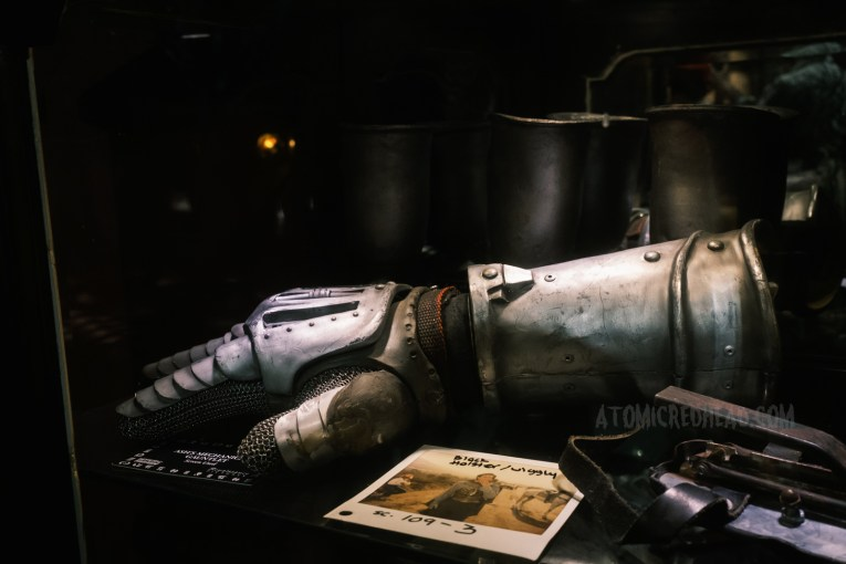 Close-up of Ash's medieval metal glove from The Army of Darkness.