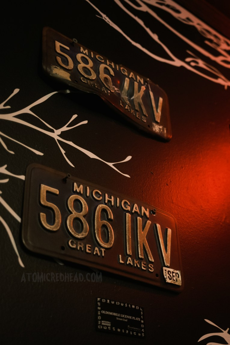 Screen used license plates