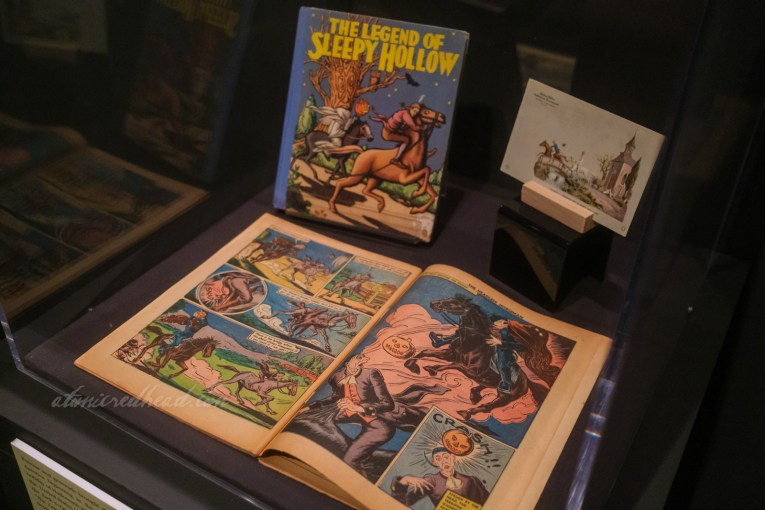 The Legend of Sleepy Hollow depicted in a comic book.