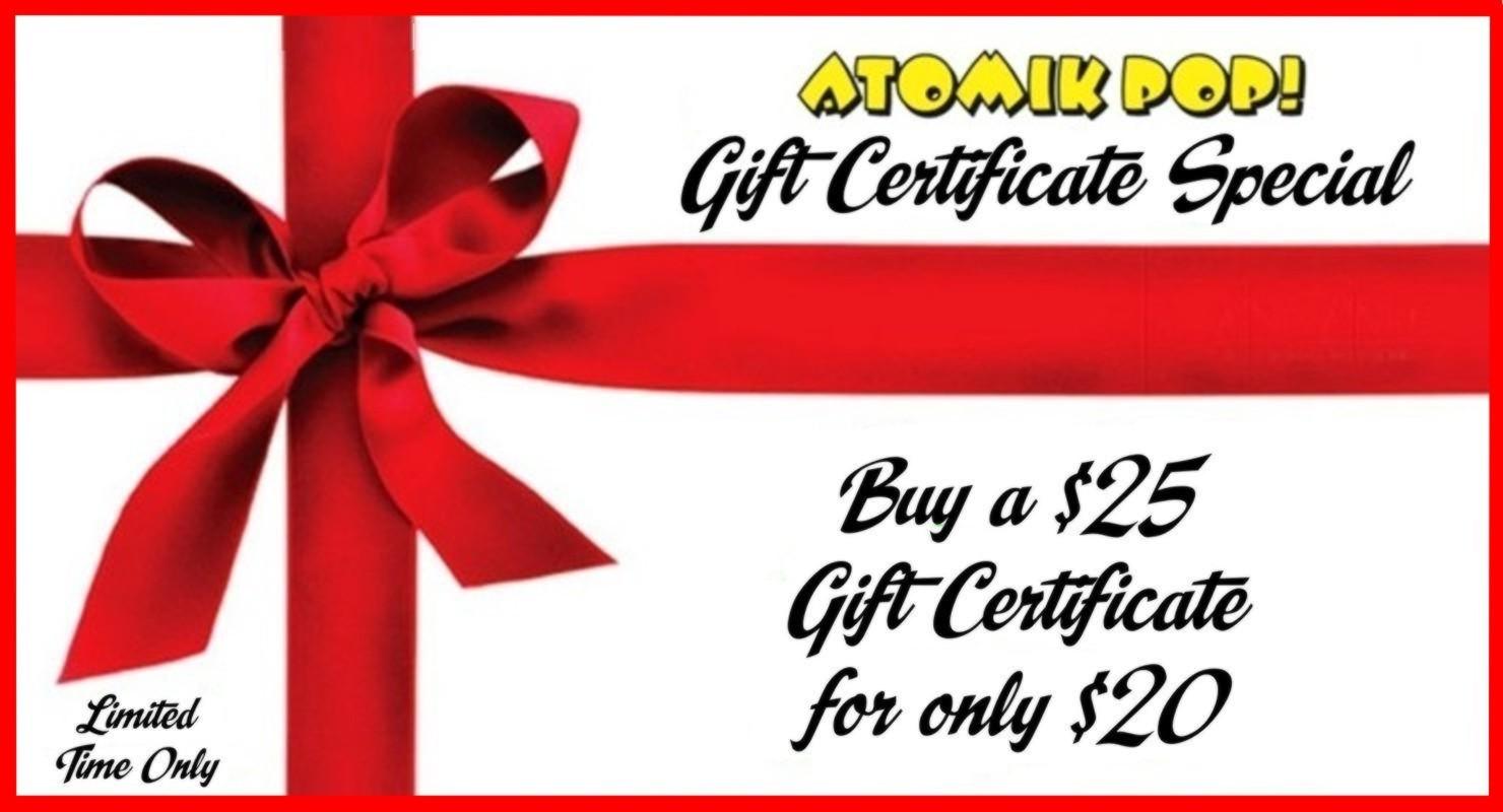 Gift certificate special atomik pop gift certificate special xflitez Gallery