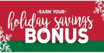 Get a $10 Holiday Bonus with Any Purchase of $40 or More