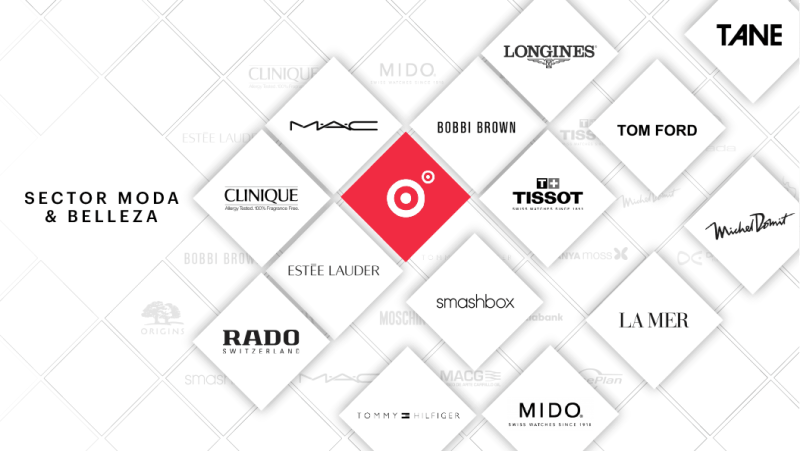 Sector Moda y Belleza: Longiness, Tom Ford, Michel Domit, La Mer, MAC, Clinique, Bobbi brown, Tissot, Smashbox