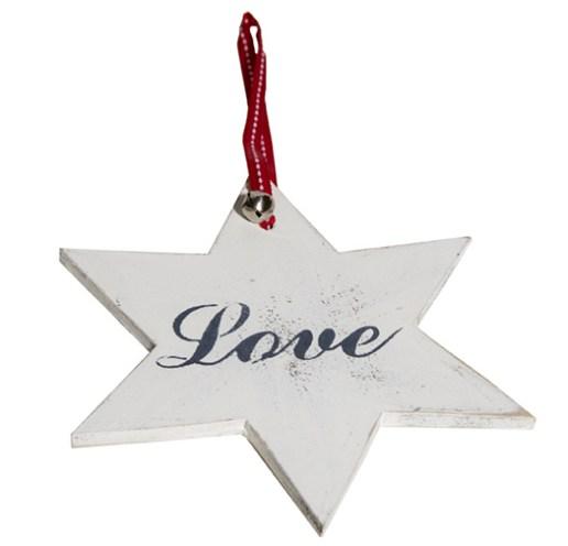 Estrella de Madera Lisa