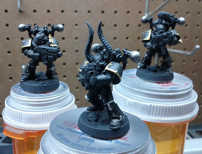 Beginning the Black Legion Paint Scheme (1/2)