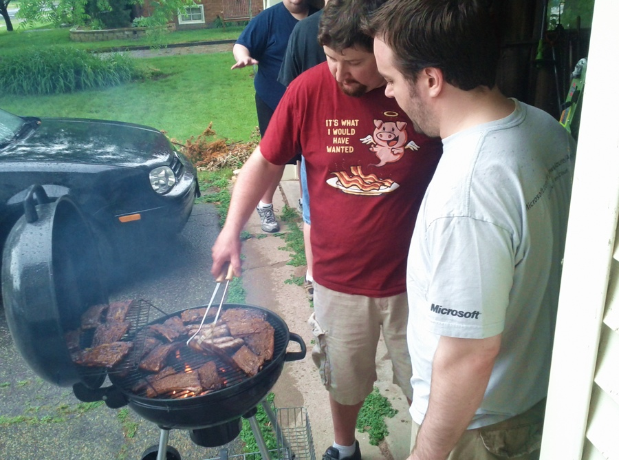 Nerd Party in the Nerd Bunker (including grilled meats) (4/5)
